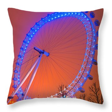 Throw Pillow featuring the photograph The London Eye by Luciano Mortula