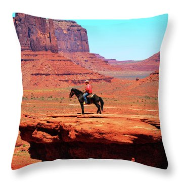 The Lone Indian Throw Pillow