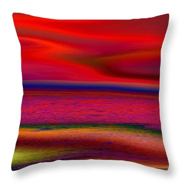 The Lonely Beach Throw Pillow