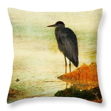 The Lonely Hunter Throw Pillow by Amy Tyler