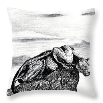 The Look Out Throw Pillow by Elizabeth Harshman