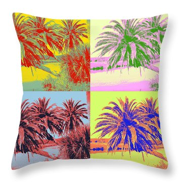 Throw Pillow featuring the photograph The Loop In Pop Art by Alice Gipson