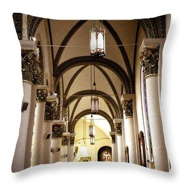 The Loretto Chapel In Santa Fe Throw Pillow