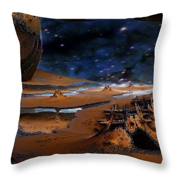 The Lost Probe Throw Pillow