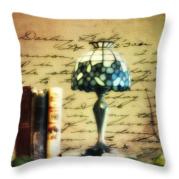 The Love Letter Throw Pillow by Bill Cannon