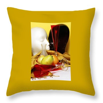 Throw Pillow featuring the photograph The Lovers by Elf Evans