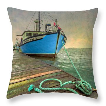 The Lurcher Digger Throw Pillow by Debra and Dave Vanderlaan