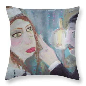 The Maid And The Butler Throw Pillow