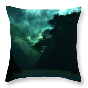 Throw Pillow featuring the digital art The Majesty... by Tim Fillingim