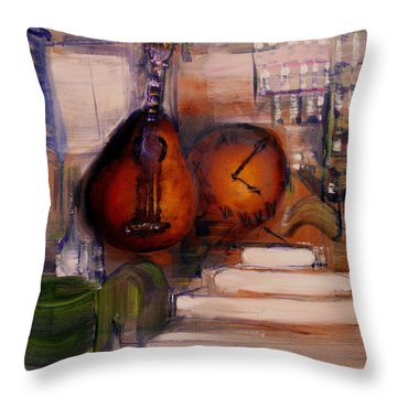 The Mandolin Throw Pillow by Evelina Popilian