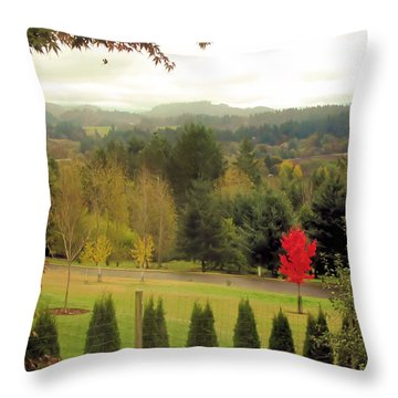 The Maple Throw Pillow by Katie Wing Vigil