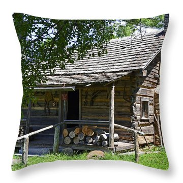 The Mark Twain Family Cabin Throw Pillow