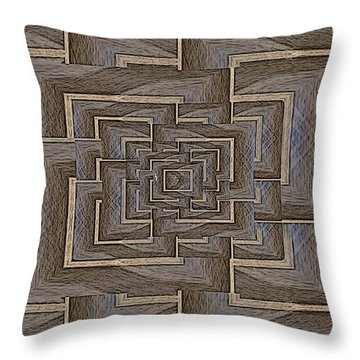 The Maze Within Throw Pillow by Tim Allen