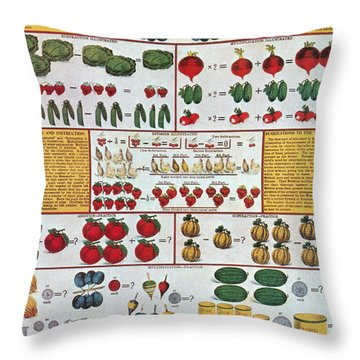 The Mechanics Of Arithmetic Throw Pillow by Science Source