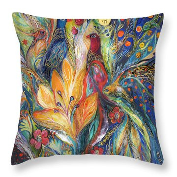 The Melody Of Love Throw Pillow by Elena Kotliarker