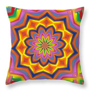 The Mexican Holiday Throw Pillow by Alec Drake