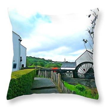 Throw Pillow featuring the photograph The Mill by Charlie and Norma Brock