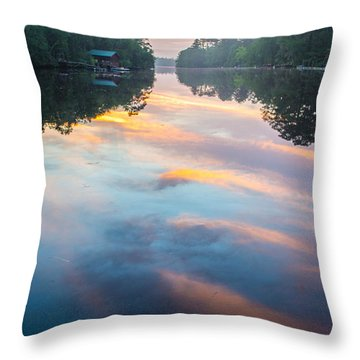 The Mirror Throw Pillow by Shannon Harrington