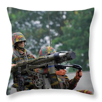 The Mistral Infrared Surface-to-air Throw Pillow by Luc De Jaeger
