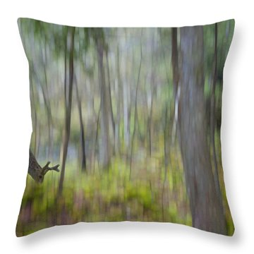 The Moss Covered Forest Throw Pillow