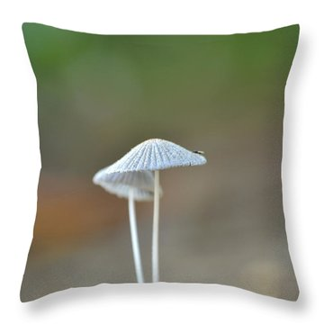 Throw Pillow featuring the photograph The Mushrooms by JD Grimes