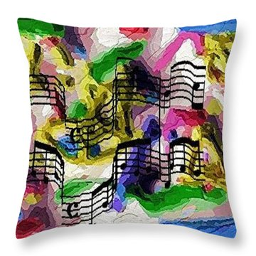 Throw Pillow featuring the digital art The Music In Me by Alec Drake