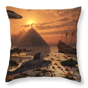The Mysterious Bermuda Triangle Where Throw Pillow by Mark Stevenson