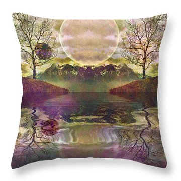The Mystery Of Dawn Throw Pillow