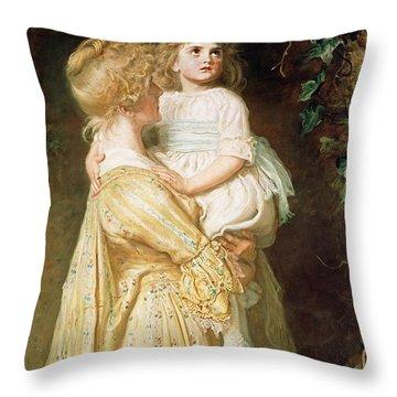 The Nest Throw Pillow by Sir John Everett Millais
