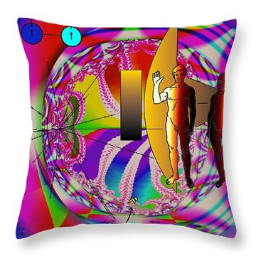 The New View Of Science Throw Pillow by Helmut Rottler