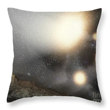 The Night Sky As Seen Throw Pillow by Stocktrek Images