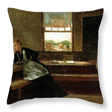 The Noon Recess Throw Pillow by Winslow Homer