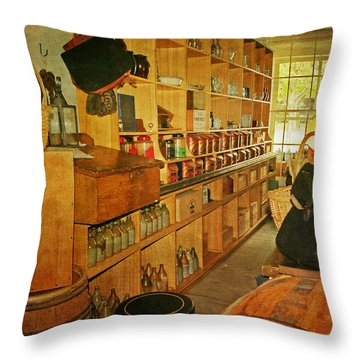 The Old Country Store Throw Pillow by Kim Hojnacki