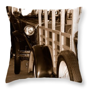 The Old Line Up Throw Pillow