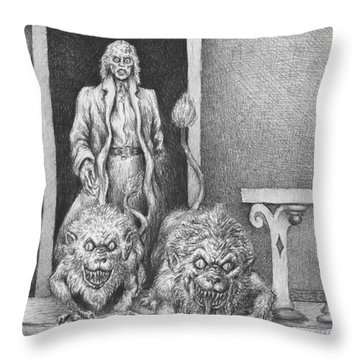 The Old Man's Dogs Throw Pillow