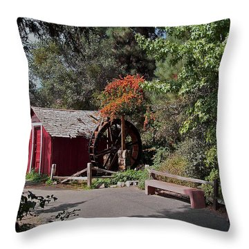 The Old Mill 1 Throw Pillow by Ernie Echols