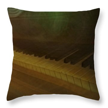 The Old Piano Throw Pillow by Donna Blackhall