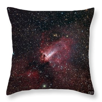 The Omega Nebula Throw Pillow by Filipe Alves