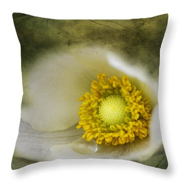 The One Tear That Held  Throw Pillow by Jerry Cordeiro