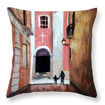The Open Door Throw Pillow by Anthony Falbo