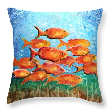 The Orange Brigade Throw Pillow by Arline Wagner