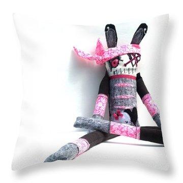 The Original Gangsta Zombie Jenni Rump-thumpin Jamma Throw Pillow by Oddball Art Co by Lizzy Love