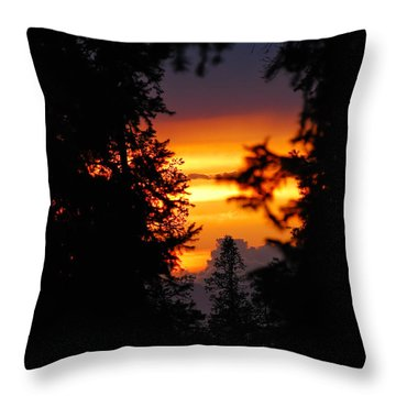 The Other Side Throw Pillow by Syed Aqueel
