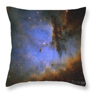 The Pacman Nebula Throw Pillow by Ken Crawford