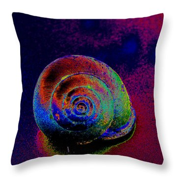 The Painted Shell Throw Pillow