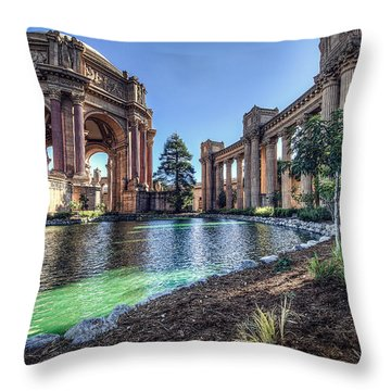 The Palace Of Fine Arts Throw Pillow by Everet Regal