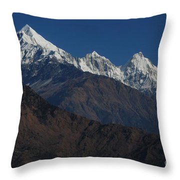 Throw Pillow featuring the photograph The Panchchuli Range by Fotosas Photography