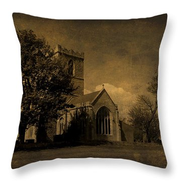 The Parish Church Of St Andrew Texture Throw Pillow