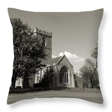 The Parish Church Of St Andrewbw Throw Pillow