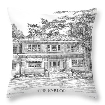The Parlor Tallahassee Florida Throw Pillow